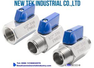 Stainless Steel Mini NPT Threads Ball Valves Price pictures & photos
