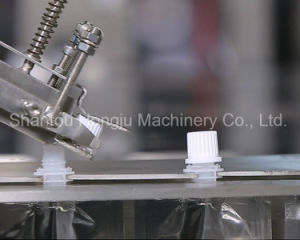 Small Sauce Filling and Capping Machine for Side Spout Pouch pictures & photos