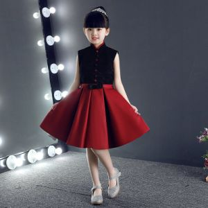 Children Dress Custom Collar Restoring Ancient Ways Black Lace Dress pictures & photos