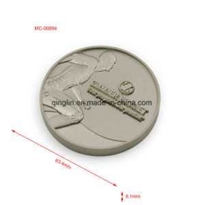 Customized Antique Silver Finish Metal Engraved Medal pictures & photos
