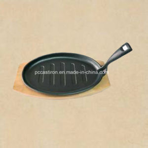 Preseasoned Cast Iron Fajita Sizzler Pan Manufacturer From China pictures & photos