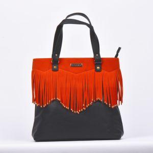 2017 Fashionable Designer Leather Tassel Bag Tote Bag Ladies Handbags pictures & photos