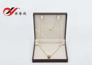 Brown PU Leather Necklace Box Pearl Box pictures & photos