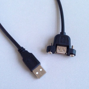 USB 2.0 Extension Cable Male to Female with Panel Mount Screw Holes pictures & photos
