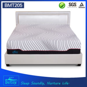 OEM Compressed Sponge Mattress 30cm High with Gel Memory Foam and Knitted Fabric Zipper Cover pictures & photos