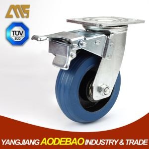 Heavy Duty Brake Rubber on Cast Iron Caster Wheel pictures & photos