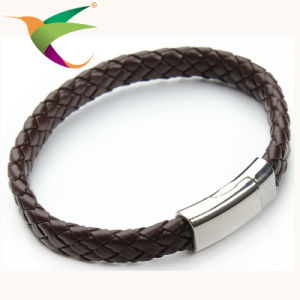 Stlb-17011012 Classical Fashion Leather with Stainless Steel Wire Bracelets pictures & photos
