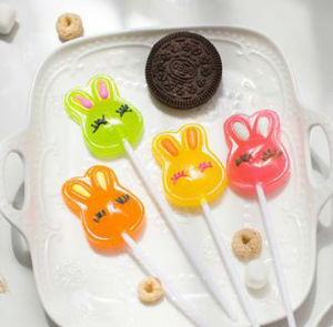 3D Carton Rabbit Shape Leisure Time Hard Lollipop Candy pictures & photos