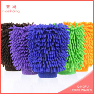 High Quality Soft Microfiber Chenille Car Washing Gloves pictures & photos