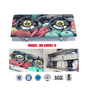 Glass Top Double Burner Gas Stove in Bangladesh Market Jp-Gcg269 pictures & photos