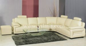 Corner Leather Sofa (958)