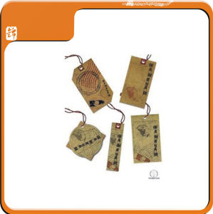 2014 New Design Printing Coated Cloth Apparel Hang Tag