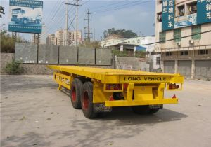 40feet Bogie Flatbed Semi Trailer pictures & photos