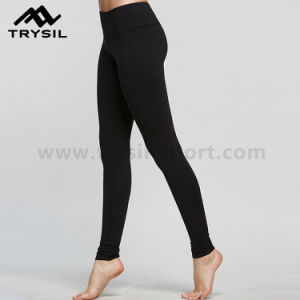 Black Yoga Pants Sports Wear Fitness Clothing for Women pictures & photos