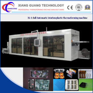 Positive and Negative Pressure Plastic Lid/Tray/Container Thermoforming Machine pictures & photos