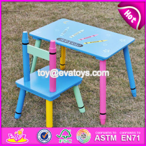 New Design Kindergarten Wooden Table and Chairs for Toddlers W08g217 pictures & photos