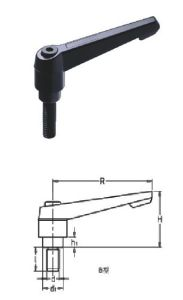 Indexed Clamping Lever With Threaded Stud (HK-100301) pictures & photos