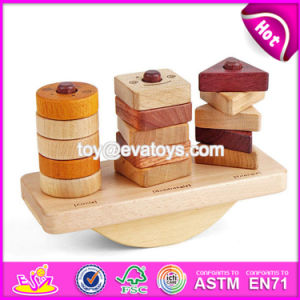 New Design Kids Play Wooden Block Stacking Games W13D142 pictures & photos