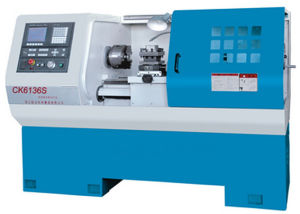 Flat Bed CNC Lathe Machine (CNC Lathe Machine CK6130S CK6136S CK6140S) pictures & photos