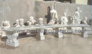 Antique Stone Marble Garden Bench for Park Decoration (QTC037) pictures & photos