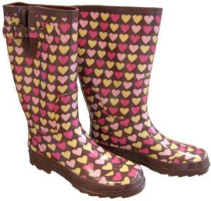 Women′s Hearts Rainboots (L0008)