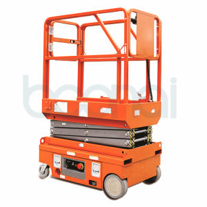 3.8m Self Propelled Battery Scissor Lift for Maintenance at Height pictures & photos