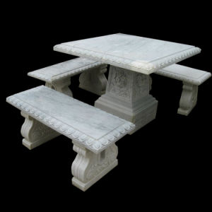 Garden Marble Table Set pictures & photos