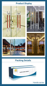Stainless Steel 304 and Wood Material Door Pull for Glass Door (DH-7020) pictures & photos
