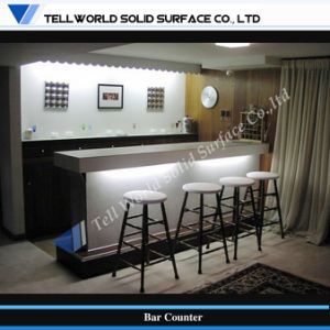 Tw Artificial Stone Small Home Bar Counter with LED Light (TW-MACT-187) pictures & photos