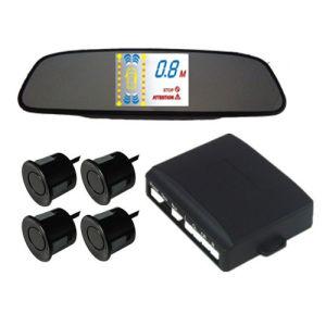 Super Thin VFD Mirror Parking Sensor with English Human Voice (Q-060)