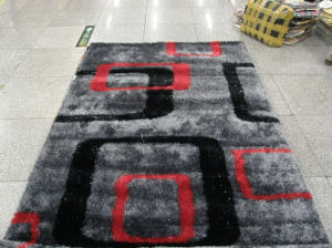The Carpet with Black Ash Powder Stretch Yarn and Silk pictures & photos