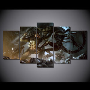 HD Printed Alien Vs Predator Alien Painting Canvas Print Room Decor Print Poster Picture Canvas Mc-135 pictures & photos