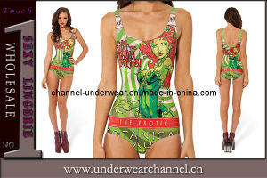 Sexy Lady Poison IVY Stylish One-Piece Beachwear Teddy Swimwear (TMY055) pictures & photos