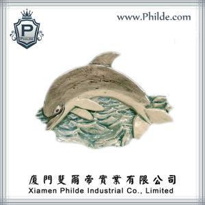 Ceramic Dolphin Fridge Magnet
