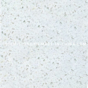 Artificial Solid Surface White Quartz Stone for Kitchen Countertops pictures & photos