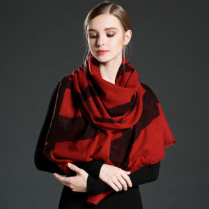 Girl′s Red Lace Scarf Pashmina pictures & photos