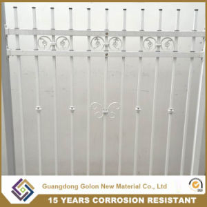 Ornamental Safety Durable Modern Steel Wrought Iron Fence pictures & photos