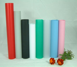 Anti-Sticky Colorful Plastic Grain Matt Fine Frost PVC Rigid Film pictures & photos