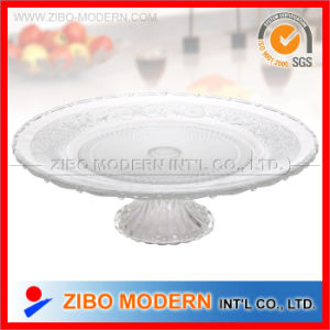 Glass Plates Wholesale Big Glass Plate with Base pictures & photos
