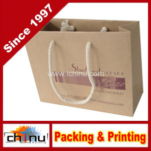 Kraft Paper Bag with Handle (2159) pictures & photos