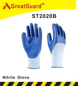 3/4 Coated Nitrile Glove (ST2020) pictures & photos