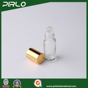 3ml 5ml Clear Luxury Glass Perfume Deodorant Bottle with Gold Aluminum Lid Small Portable pictures & photos