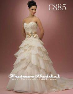 2014 New Arrival Center Novias A-Line Wedding Dresses Bridal Gown (C885)