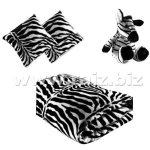 Baby Blanket with Zebra Toy and Cushion pictures & photos