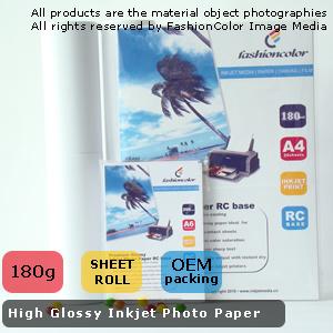 High Glossy Inkjet Photo Paper 180G/M2