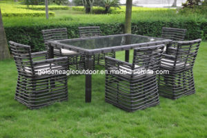Hospitality Rattan 7 Piece Sqaure Woven Patio Dining Chair pictures & photos