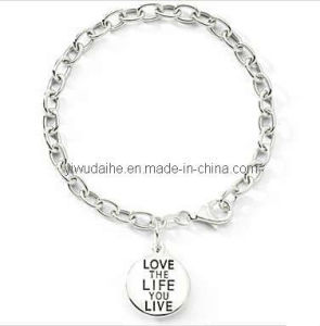Fashion Alloy Message Charm Bracelet (ALBA-1167)