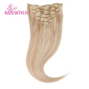 Top Grade 100% Brazilian Human Hair Clip on Hair Extensions pictures & photos