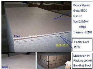 Okoume Plywood (1220*2440/1250*2500)