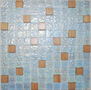Gold Plating Mix Glass Mosaic Tile (YX33D1)